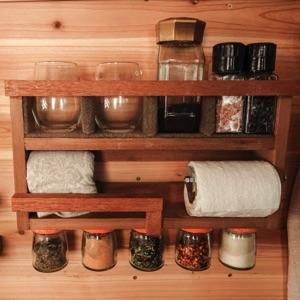 rack for kitchen utilities