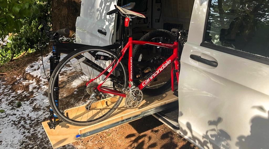slide out bike rack