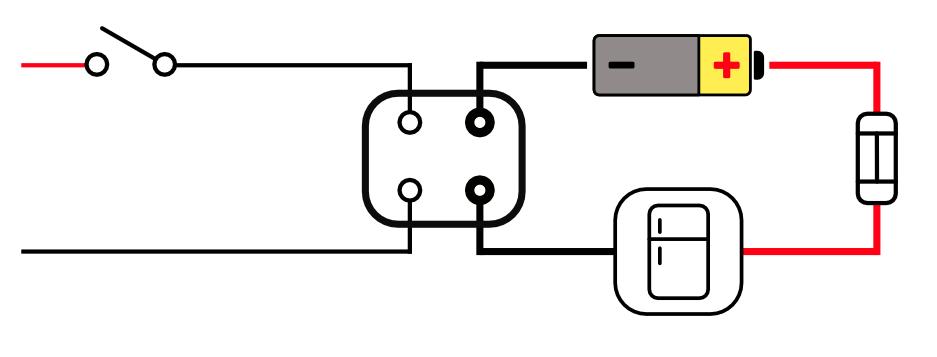 fridge relay diagram for camper van