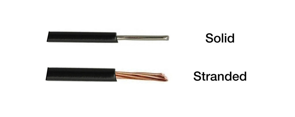 solid and stranded wires