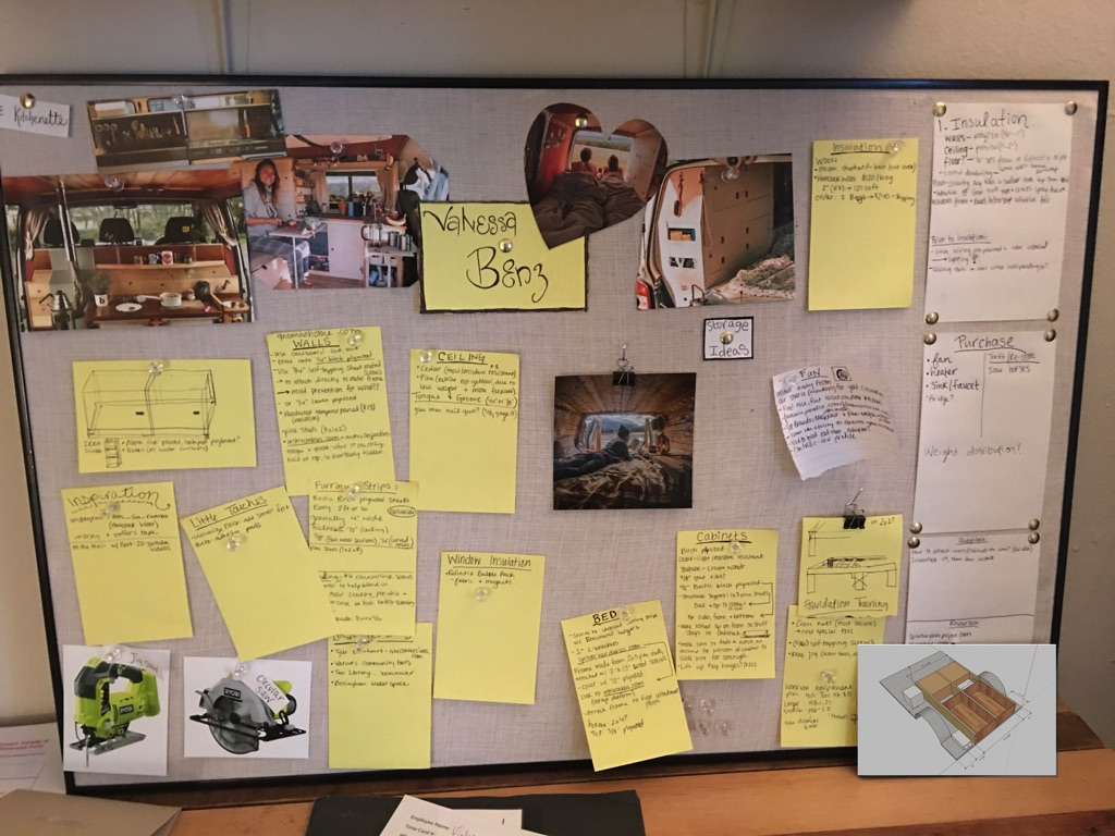 inspiration board for van ideas