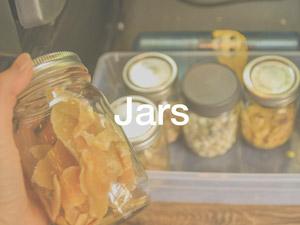 glass snack jars