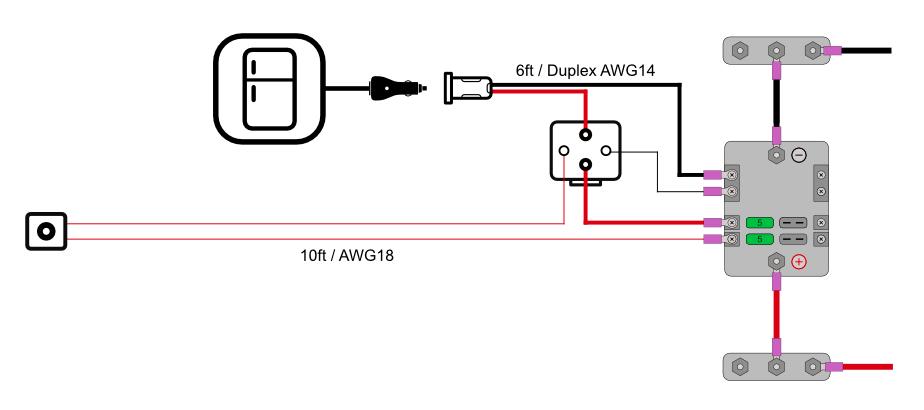 Fridge Wiring Diagram for camper van
